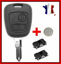 Case Plip Key Citroen Xsara Berlingo Jumper Jumpy Picasso Saxo+Battery + 2switch