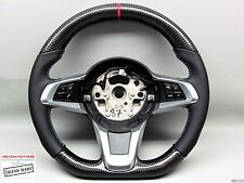 BMW E89 Z4 30i 35is sDrive Red Ring Napa Thick FLAT BOTTOM CARBON Steering WHEEL