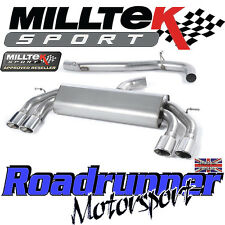 "Milltek Audi S3 8v 3-Door RACE Exhaust 3"" NON VALVE Non Res Polish Oval SSXAU521"