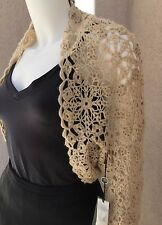 NWT Christopher Pischer Woman Bolero Shrub SZ XL 92% Cachmere Crochet