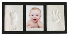 Black Clay KEEPSAKE & PHOTO WALL FRAME KIT No Bake Air Dry Footprints  Handprint