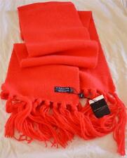 Luxurious! NWT Burberry London England Coral Red 50% Cashmere/50% Wool Scarf