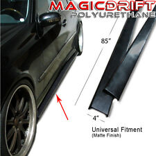 NEW Universal Fit Side Skirts Extension Urethane Plastic for Most 4-door Sedans