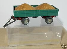 WIKING HO 1/87 ANHÄNGER REMORQUE AGRICOLE FARM TRAILER + REMPLIE DE GRAINS box