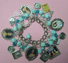 """THE POWER OF THREE""- CHARMED - ONE OF A KIND-ALTERED ART CHARM BRACELET"