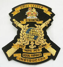 ROYAL MARINES DRILL LEADER INSTRUCTOR (DLI) BLAZER BADGE, GOLD WIRE