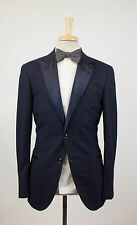 New BRUNELLO CUCINELLI Navy Blue Wool Tuxedo Suit 50/40 R $4295