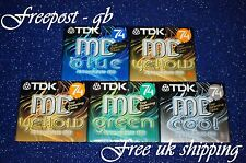 5 x TOP QUALITY TDK MD-C74 BLANK AUDIO MINIDISCS - 74 MINUTES - NEW IN BOXES