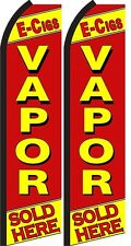 Vapor Sold Here King Size  Swooper Flag Banner  Sign Pack  of 2
