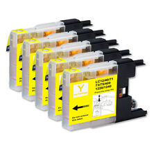 5 YELLOW NEW ink Cartridge use for LC71 LC75 MFC J625DW J825DW J835DW