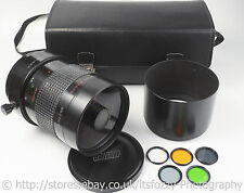 Rubinar 1000mm f/10 M42 Mirror Super Telephoto Lens. 1:4 Macro Ability