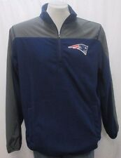 New England Patriots Men's Large 1/4-Zip Pullover Fleece Warm-Up Jacket NFL A14M