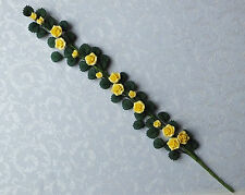 Dolls house miniatures: two-tone yellow rose vine 1:12 scale