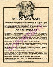 Rules In A Rottweiler's House