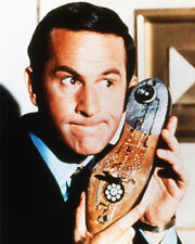 DON ADAMS GET SMART COLOR 8X10 PHOTO WITH SHOE PHONE