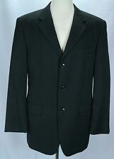 Men's Jones New York JNY Black 3 Button 100% Wool Sports Coat Blazer - Size 40 R