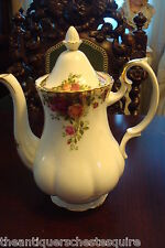 "Royal Albert Old Country Roses Coffee Pot, 10 "" tall"