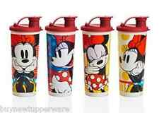 Tupperware Straight-Edged Tumblers Flip-Top Seals Minnie Mouse Rocks Dots New
