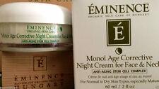Eminence Monoi Age Corrective Night Cream For Face & Neck  2oz  NIB~ FREE SHIP