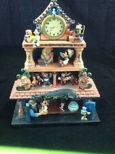 "DISNEY PINOCCHIO DIORAMA FIGURE ""STORY OF MY LIFE"" W/MUSIC BOX AND CLOCK"