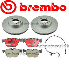 BMW E70 X5 2007-2008 3.0si Brembo Complete Front Brake Rotors Kit & Pads Sensor