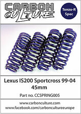 LEXUS IS200 SPORTCROSS 45mm LOWERING SPRINGS- HIGH QUALITY CARBON CULTURE