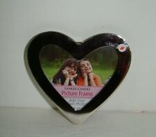 Yankee Candle Silver Heart Photo Frame Jar Clinger FREE SHIPPING !