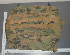 USMC DIGITAL MARPAT ILBE ARCTERYX PACK LID COVER AMMO POUCH-BLACK BUCKLES VGC