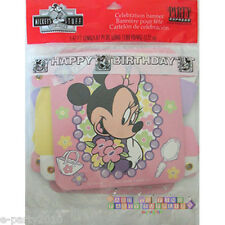 MINNIE MOUSE BANNER ~ Vintage Birthday Party Supplies Decorations Pink Girl