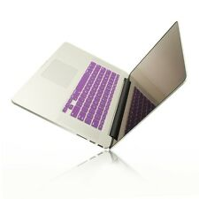 """PURPLE Silicone Keyboard Cover for NEW Macbook Pro 15"""" A1398 with Retina display"""