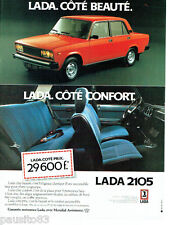 PUBLICITE ADVERTISING 016  1982   LADA la 2105 avec Mondial Assistance
