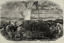 Siege of Charleston Harbor, Fort Wagner, Morris Island from Naval Battery 1863