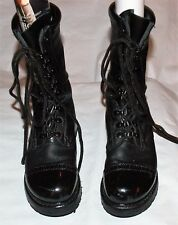 CORCORAN 1525 BLACK LEATHER U.S.A. MILITARY COMBAT CAP TOE FIELD JUMP BOOTS 7 M