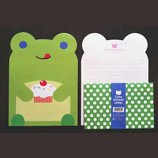 So Cute Frog Animals Letter set - 4sh Writing Stationery Paper 2sh Envelope