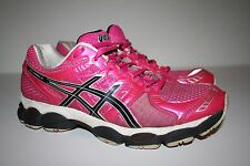 Asics Gel Nimbus 14 Running Shoes Women's Size 9.5, Pink, White, Black