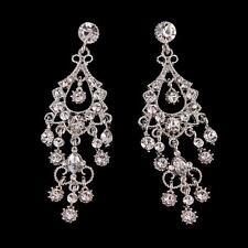 Vintage Bridal Chandelier Earrings Tassels Wedding Teardrop Earrings Jewelry