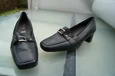 ARA Damen Comfort Schuh Slipper Pumps Leder marine Einlagen Gr.7,5 H 41,5 NEU +3