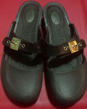 Dr Scholls Dance Feel Crazy Good Clogs Size 9M BROWN