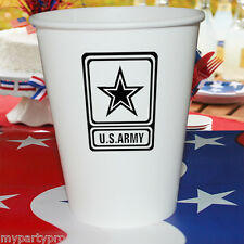 ARMY PAPER CUPS 9 oz. Party Supplies FREE SHIPPING NEW