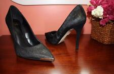 New $129 TRUTH OR DARE by MADONNA Womens LUCINDA Pony Hair Pumps 7.5 Black Gold