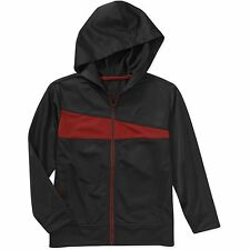 NEW Starter Boys' Tricot Mesh Hoodie Track Jacket, Gray/Red, L (10-12) NWT a16
