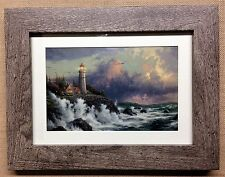"Thomas Kinkade Framed Open Edition print ""CONQUERING THE STORMS"" - NEW"