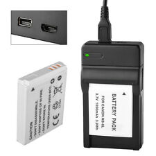 USB Charger+1050mAh NB-6L NB 6L Battery FOR CANON X260 SX270 HS SX280 500 IS UK