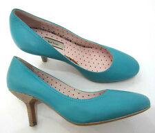 "Paul Smith Court Shoes UK3 EU35 Turquoise SWIRL Interior 2.5"" Heels RRP £329"