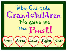 PERSONALIZED GRANDCHILDREN FRIDGE MAGNET