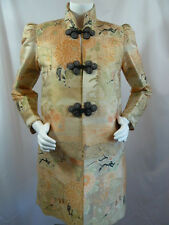 Vintage Deco Asian Tailor Custom Brocade Chinese Opera Tux Evening Coat M Medium