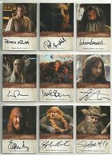 The Hobbit DESOLATION of SMAUG Complete Set 27 Autograph 212 Cards 3D Base Chase