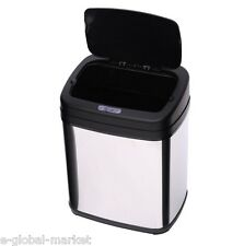 Automatic Waste Bin Sensor Touchless Steel Kitchen Stainless Auto Lid Office 15L