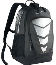 Nike Max Air Vapor Backpack NEW Metallic Silver Black BA5108 School Laptop Bag