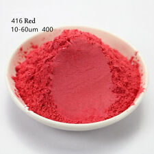10g Natural Mica Pearl Powder Pigment Soap Candle Cosmetic Colorant  Red 416#